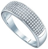 Katarina 10K White Gold 1/3 ct. Micro Pave Set Diamond Wedding Band