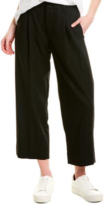 Vince Pleat-Front Wool-Blend Crop Pant