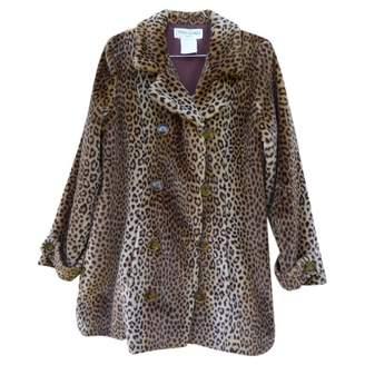 Saint Laurent Brown Faux fur Coat for Women Vintage