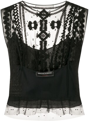 Ermanno Scervino Sleeveless Embroidered Top