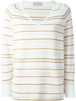Maison Ullens striped v-neck sweater