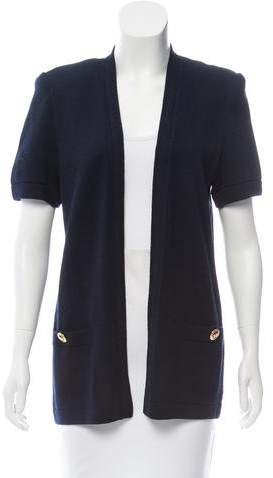 St. John Short Sleeve Open Front Cardigan