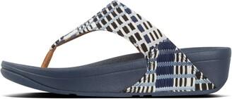 FitFlop Lulu Art-Denim Toe-Post Sandals