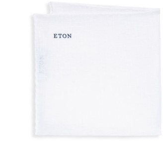 Eton White Linen Pocket Square