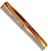 Kent the Handmade Comb - 182 Mm Medium Coarse and Fine Toothed Comb Sawcut 6t