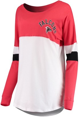 New Era Women's Red Atlanta Falcons Varsity Athletic Long Sleeve T-Shirt