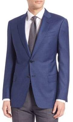 Giorgio Armani Regular Fit Houndstooth Sportcoat