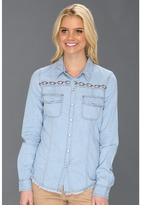 Roxy After Sundown L/S Denim Shirt (Light Indigo) - Apparel