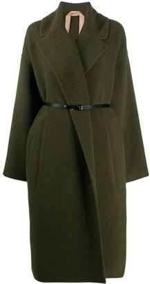 No.21 Belted-Waist Oversize Coat