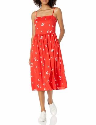 Goodthreads Amazon Brand Women's Georgette Smock-Back Cami Midi Dress