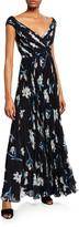 Fame & Partners Floral-Print V-Neck Cap-Sleeve A-Line Dress