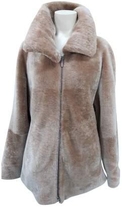 Giorgio Armani Beige Shearling Leather Jacket for Women