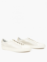 Common Projects Off-white Leather Premium 'achilles' Sneakers