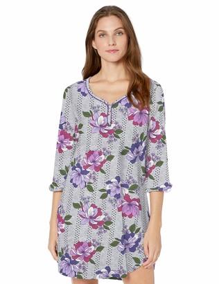Karen Neuburger Women's 3/4 Sleeve Nightgown Pajama Sleepshirt Pj