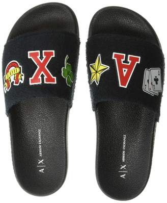 Armani Exchange A|X Women's Rubber Pool Slide Sandal