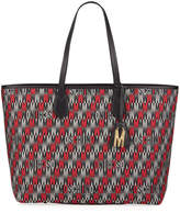 Moschino Monogrammed Leather Tote Bag