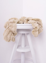 Missy Empire Alina Beige Twisted Fluffy Scarf
