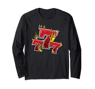 777 Lucky Slot Machine Numbers Jackpot Long Sleeve T-Shirt