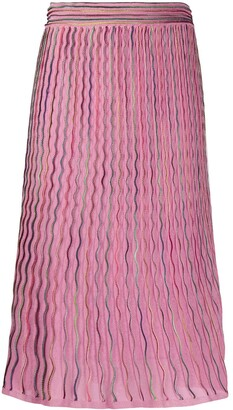 M Missoni Rainbow Trim Skirt