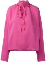 Balenciaga drawstring collar top