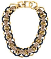 Tory Burch Pebble Ring Rope Link Necklace