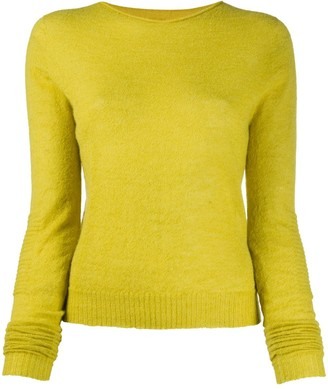 Rick Owens Round Neck Ribbed-Knit Pullover