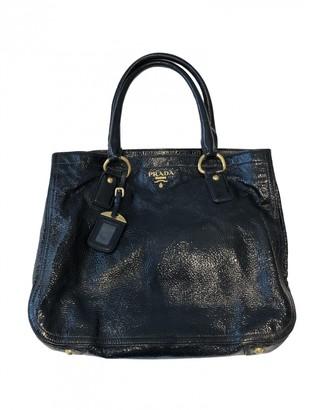 Prada Navy Patent leather Handbags