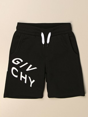 Givenchy Jogging Bermuda Shorts In Cotton With Logo