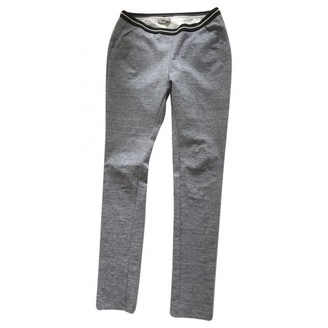Humanoid Blue Cotton Trousers for Women