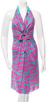 Blumarine Silk Halter Dress