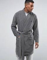 Asos Shawl Neck Towelling Robe With Logo