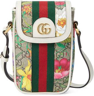 Gucci Ophidia GG Flora Phone Case Crossbody Bag