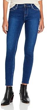 Paige Verdugo Raw Hem Skinny Ankle Jeans in Soho