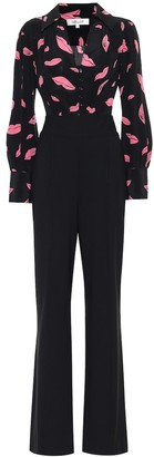 Diane von Furstenberg June silk and wool-blend jumpsuit