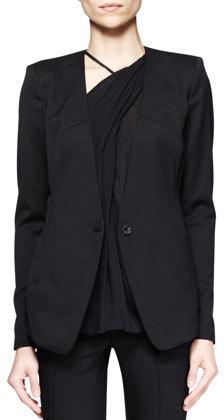 Helmut Lang Smoking Wool Single-Button Blazer