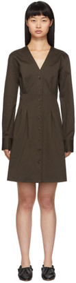 Tibi Brown Dominic Shirt Dress