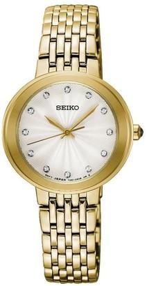 Seiko Womens Analogue Quartz Watch with Stainless Steel Strap SRZ504P1