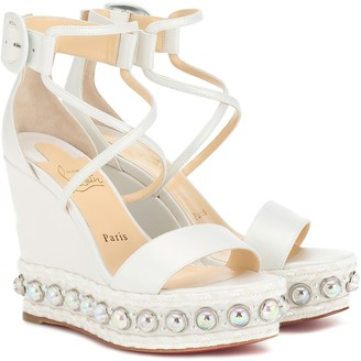 Christian Louboutin Exclusive to Mytheresa Chocazeppa 120 wedge sandals
