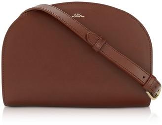 A.P.C. Half Moon Thick Leather Crossbody Bag
