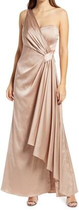 Chi Chi London Draped One-Shoulder Bridesmaid Dress