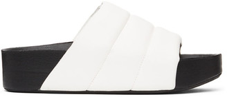 Simon Miller White Vegan Leather Dip Slides