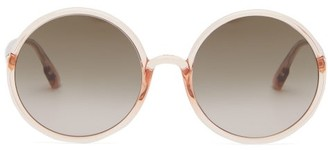 Christian Dior Diorsostellaire3 Oversized Round Acetate Glasses - Womens - Pink