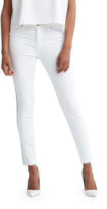 Hudson Barbara High-Rise Ankle Raw-Hem Jeans with Ombre Stripe