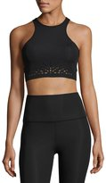Beyond Yoga Knit Down Studio Sports Bralette, Jet