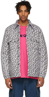 Noon Goons White Leopard Compa Shirt Jacket