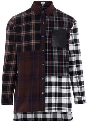Loewe Patchwork Oversize Check Shirt