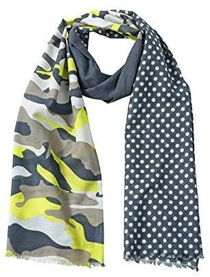 James & Nicholson Camouflage Scarf, Multicolour Black-Melange/Light-Grey
