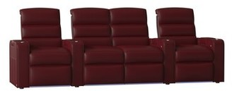 Magnum Red Barrel Studio HR Series Home Theater Loveseat (Row of 4) Red Barrel Studio Body Fabric: Luxe Berry