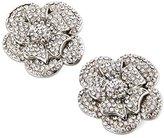 ElegantPark AF02 Sparkling Flower Rhinestones Shoes Decoration Rose Flower Silver Wedding Party Shoes Clips 2 Pcs