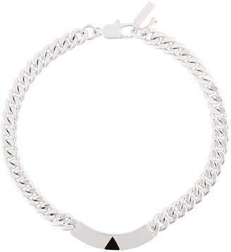 Coup De Coeur Pyramid Tag collar necklace